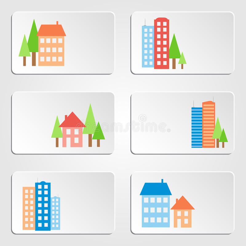 Download Houses And Skyscrapers Banners Stock Vector - Image: 33012282