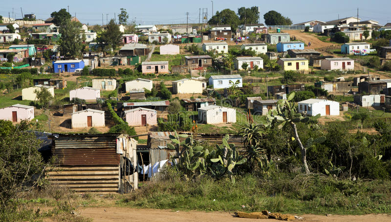 Houses in a South African township royalty free stock photography