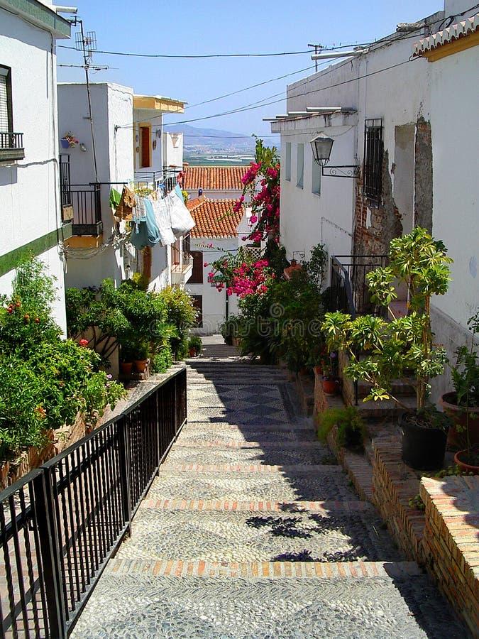 houses spansk bywhite arkivbild