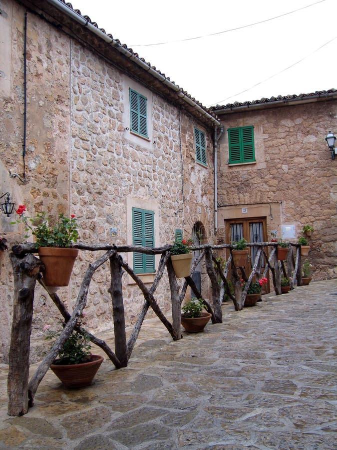 Houses Valdemossa Mallorca stock photos