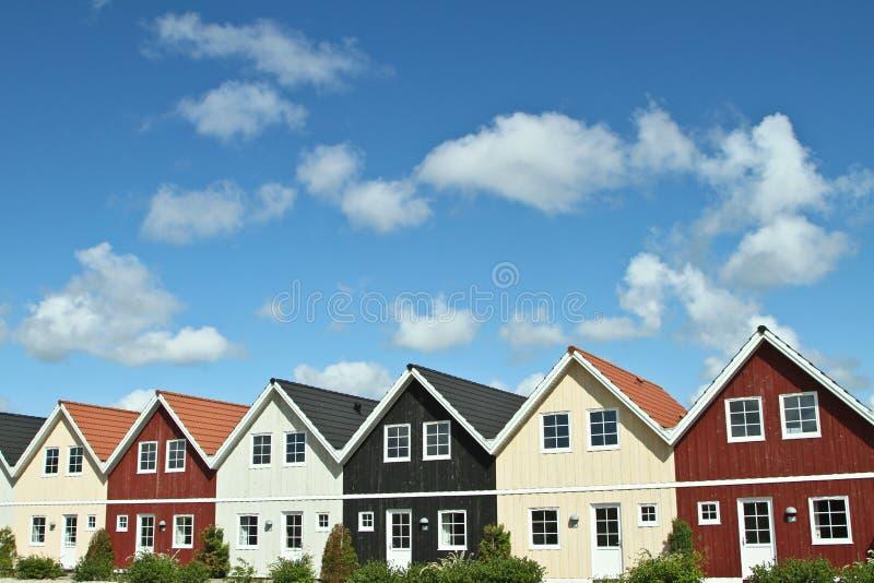 Houses in a village in Denmark stock photos