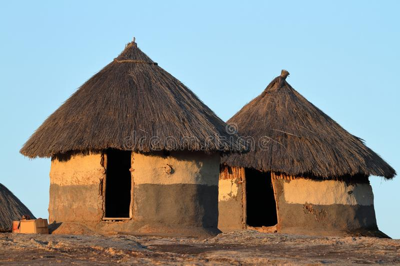 Houses and villages in Zimbabwe. The Houses and villages in Zimbabwe royalty free stock image