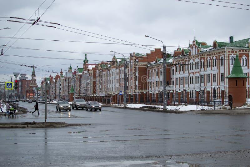 Houses on Voskresensky Avenue stock images