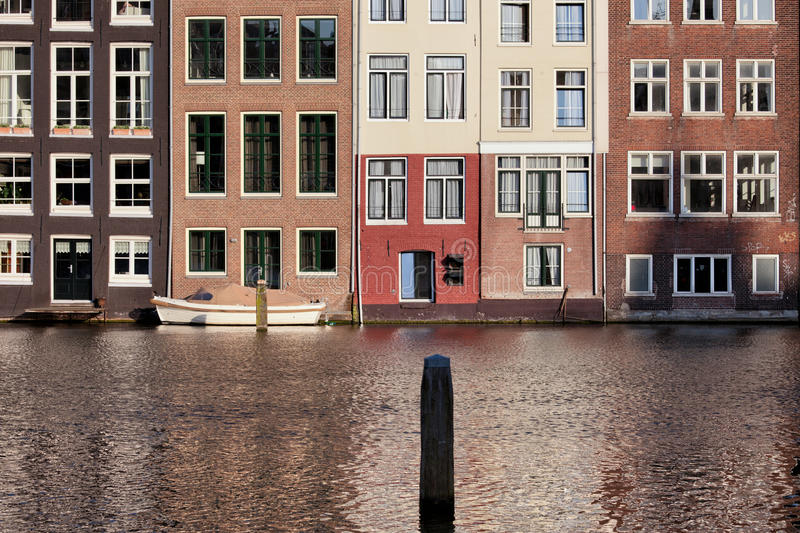Download Houses On Water In Amsterdam Netherland Stock Photo   Image Of  Residential, Houses: