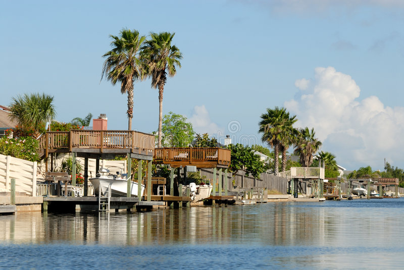 Download Houses Waterside, South USA Stock Image - Image: 6920531