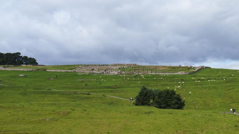 Housesteads Roman Fort dans le Northumberland, Angleterre du nord image stock