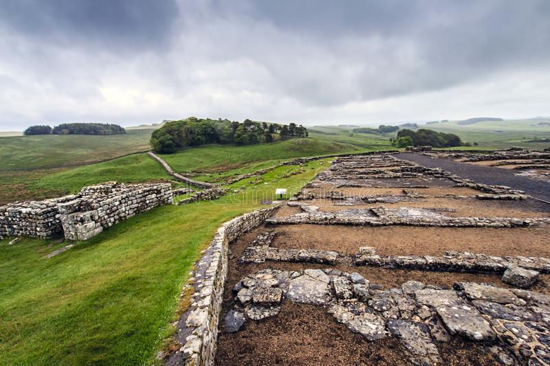Housesteads Roman Fort, Hexham, le Northumberland, Angleterre images stock