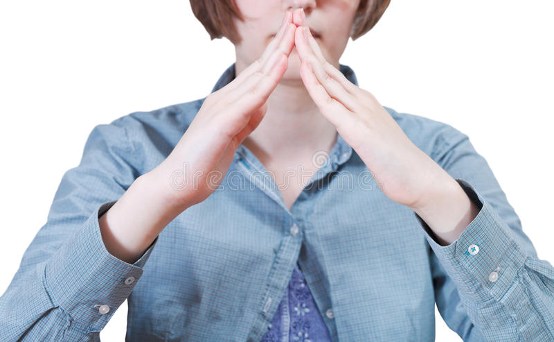 Housetop από τις παλάμες - χειρονομία χεριών στοκ εικόνα