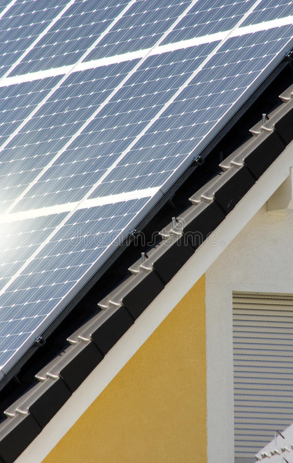 housetop солнечный стоковые фотографии rf