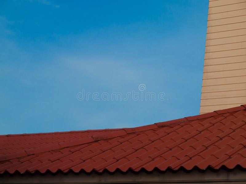 Housetop, imagem de um telhado velho imagens de stock