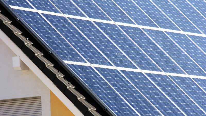 Download Housetop with solar stock photo. Image of energy, green - 21523636