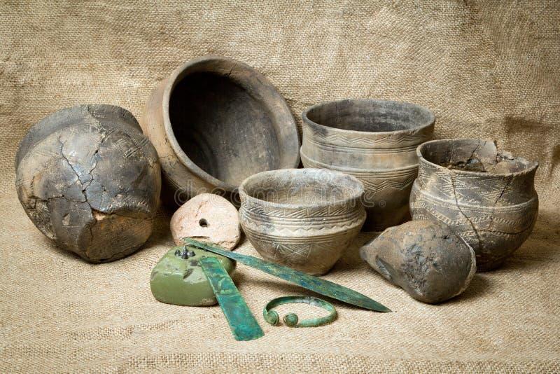 Housewares av bronsårhundradet royaltyfri bild