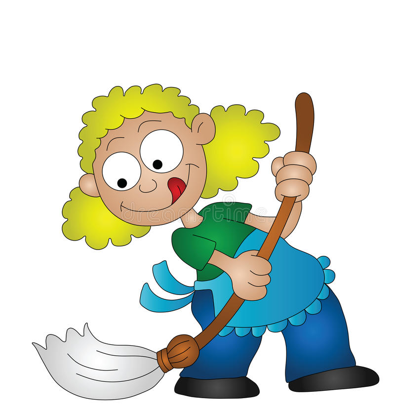 Download Housewife stock vector. Image of occupation, sweep, homemaker - 20606281