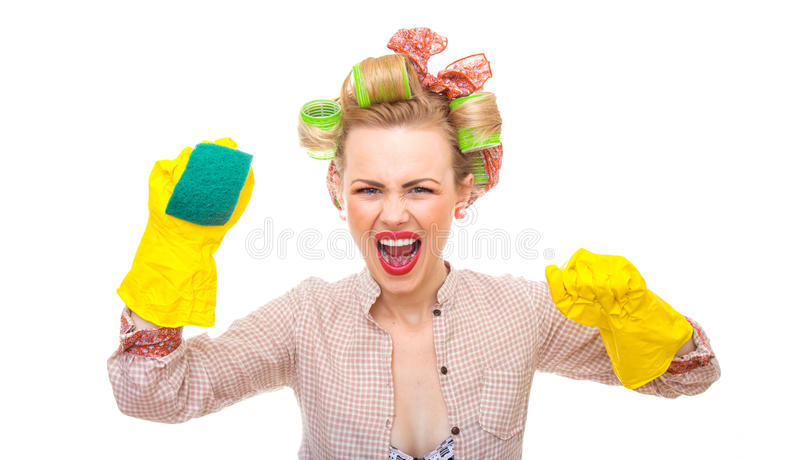 Download Housewife stock image. Image of pin, hairstyle, homework - 28042385