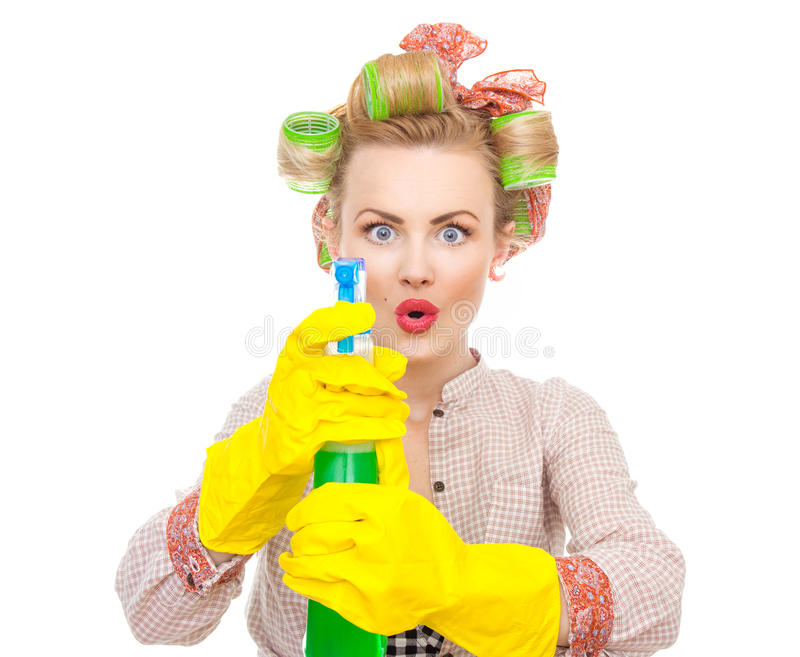Download Housewife stock photo. Image of clean, housekeeping, pin - 28042468