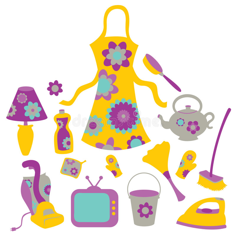Download Housewife Accessories Icon Set Stock Vector - Image: 8940622