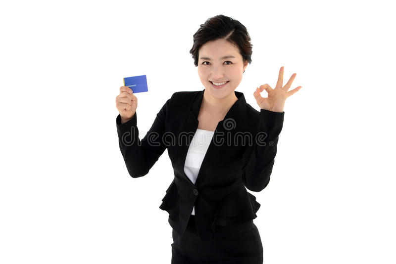 Housewife employee isolated on white background royalty free stock photo