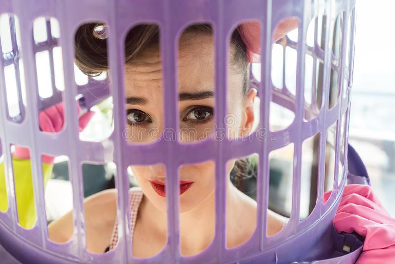 Housewife needs to break free from the prison that is her life royalty free stock photos