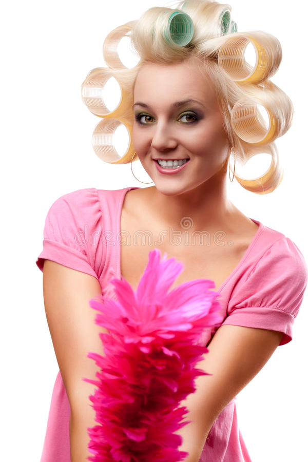 Download Housewife portrait stock photo. Image of female, funny - 18672342