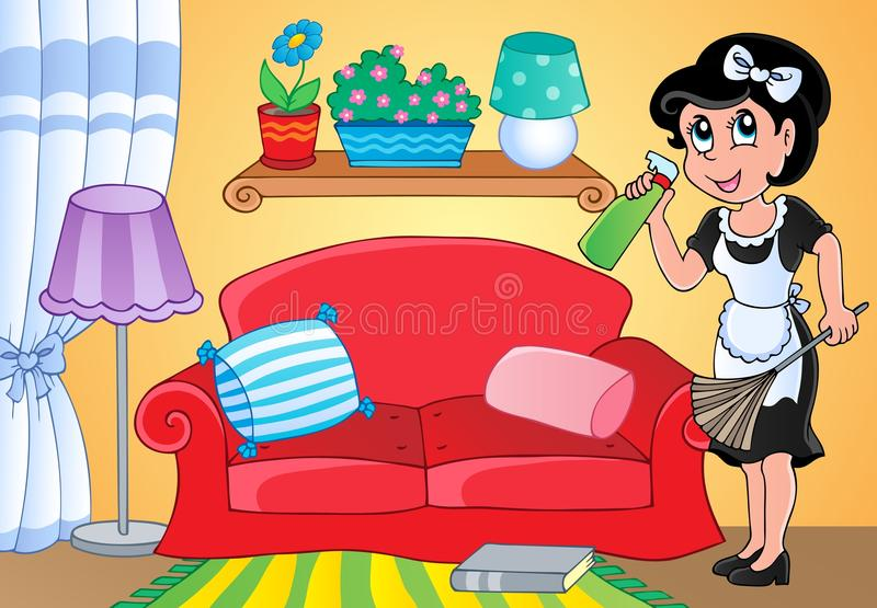 Download Housewife theme image 2 stock vector. Illustration of beautiful - 26154820