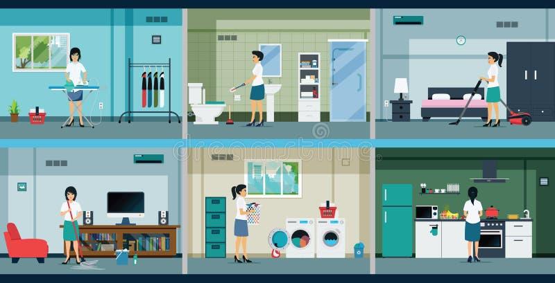 housework illustrazione di stock