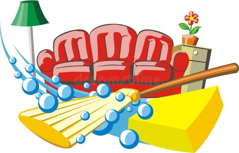 housework illustrazione vettoriale