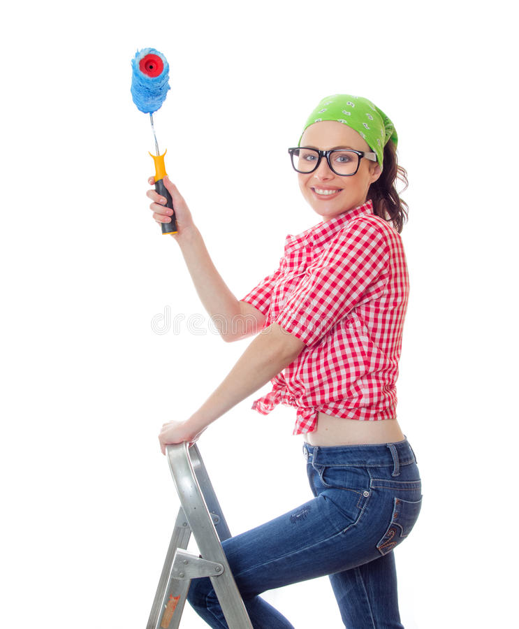 Houseworker femminile fotografia stock