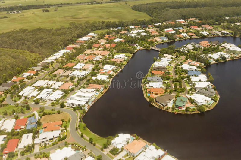 Housing Canal Development In Queensland Editorial Image