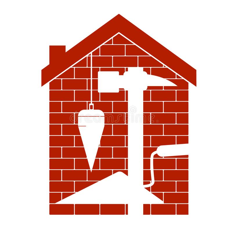 Housing construction symbol royalty free stock image