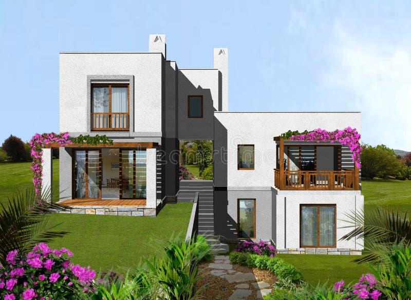 Housing estate vector illustration