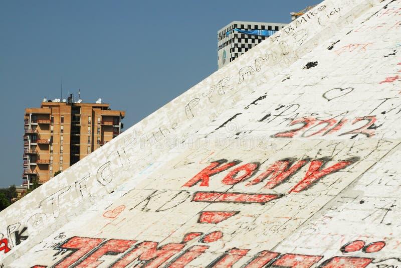 Download Housing Estates Seen Behind The Pyramid At Tirana Stock Image - Image: 28901727
