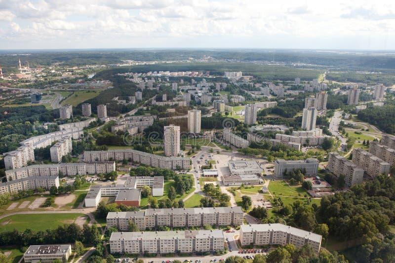 Housing estates in Vilnius royalty free stock photo