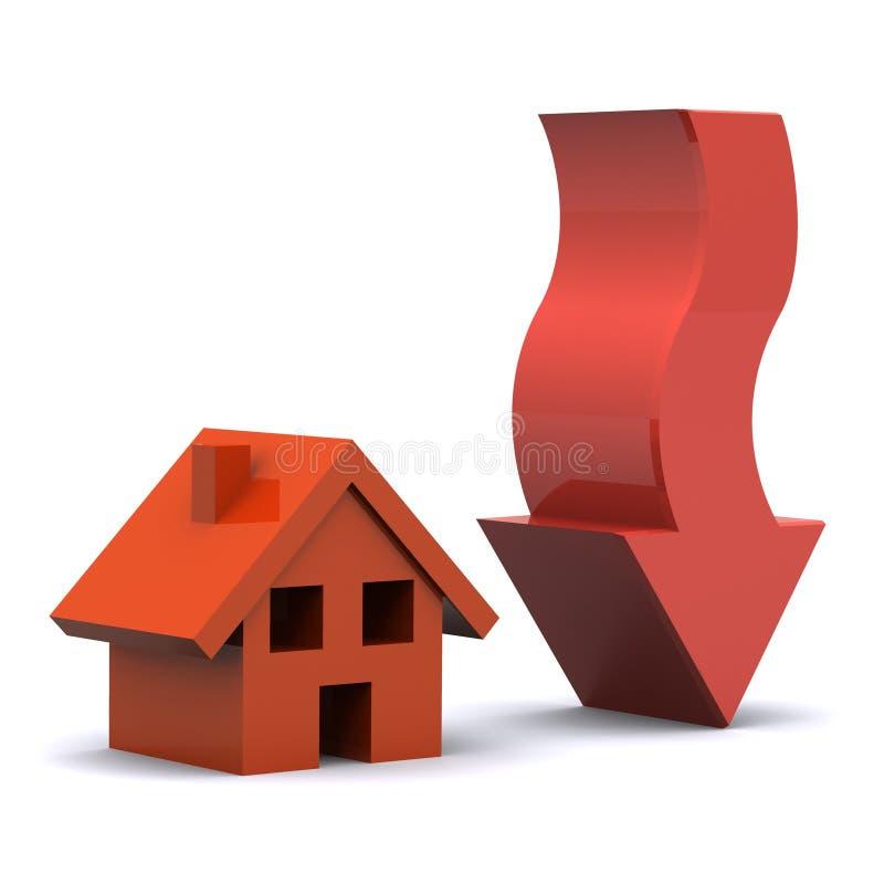 Housing Fall royalty free illustration
