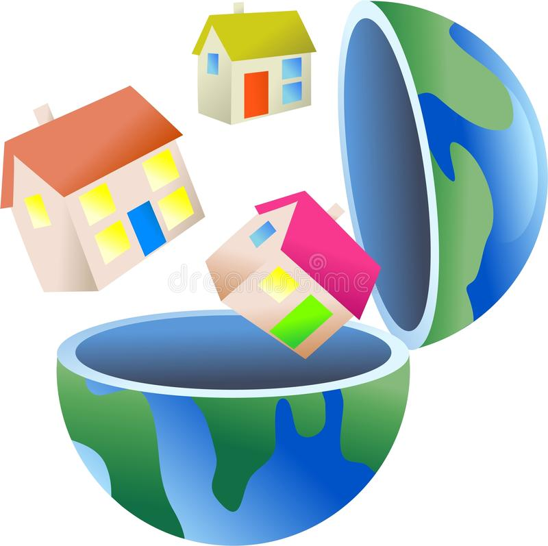 Housing Globe Stock Photography