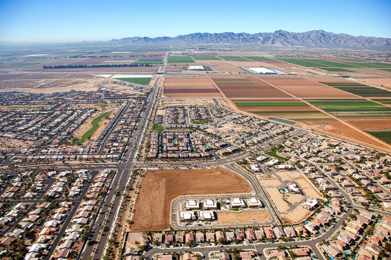 Housing Growth. New home building and growth in the southwest United States royalty free stock images