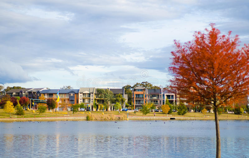 Housing in Gungahlin of Canberra stock image