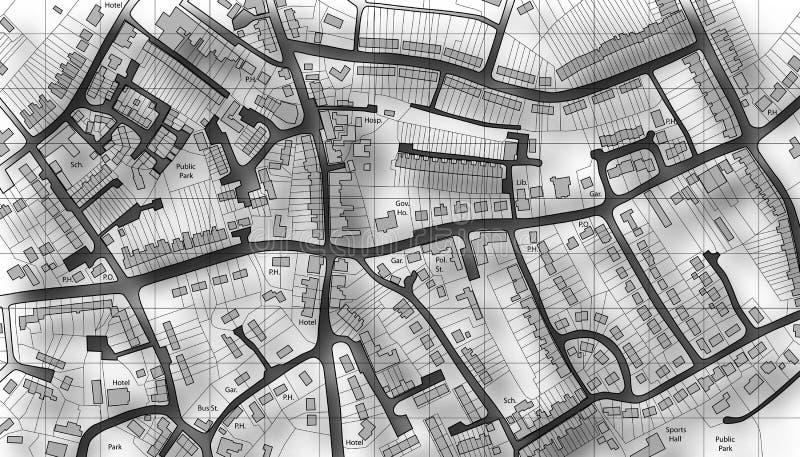 Housing map stock image