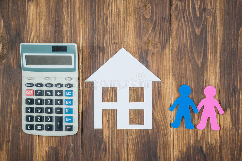 Housing and mortgage for young families. couple dreaming royalty free stock photography