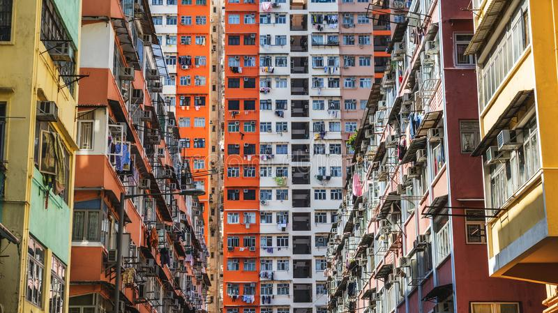 Housing projects in Hong Kong stock photos