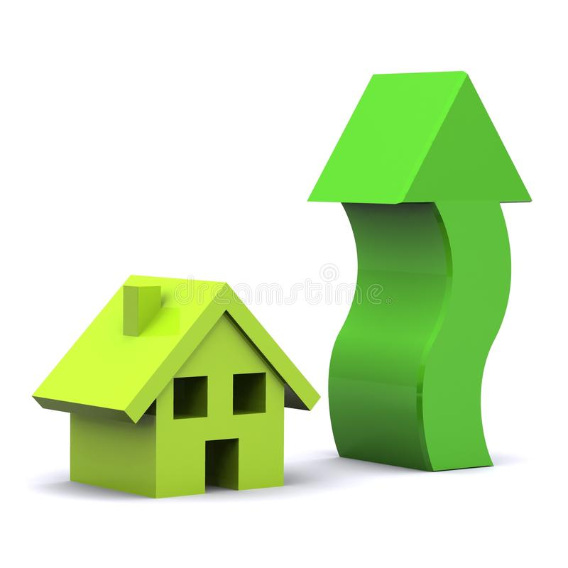 Download Housing Rise stock illustration. Image of market, credit - 9781799
