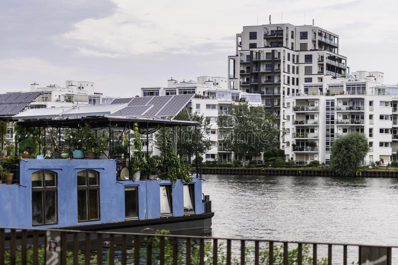 Housing from the Spree River in Berlin royalty free stock photo