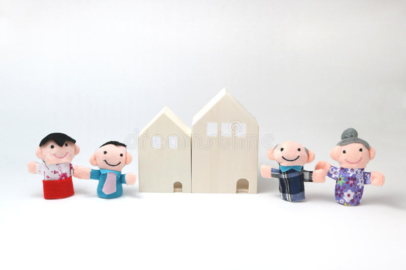 Housing for two generations. royalty free stock images