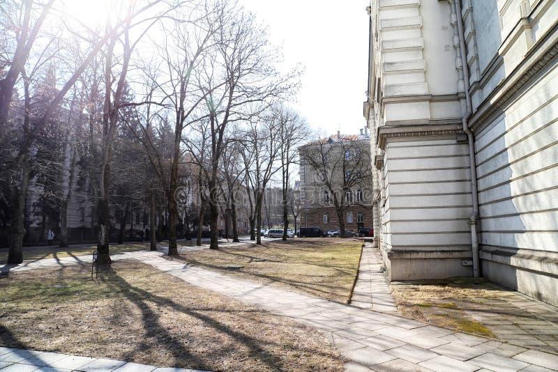 Houst im alten, zentralen und historischen Teil von Vilnius-Stadt lizenzfreie stockfotos