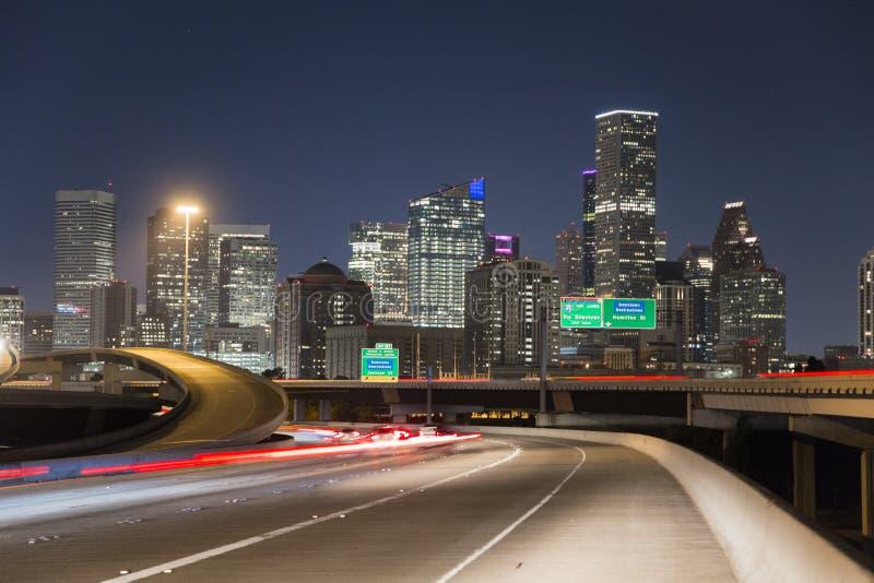 Houston śródmieście od autostrady 10 fotografia stock