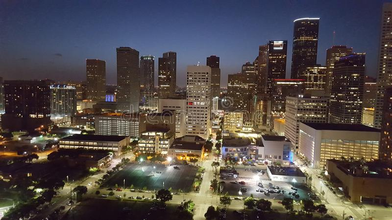 Houston życie nocne zdjęcie royalty free