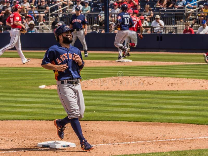 Houston Astros Jose Altuve 2017 stock fotografie