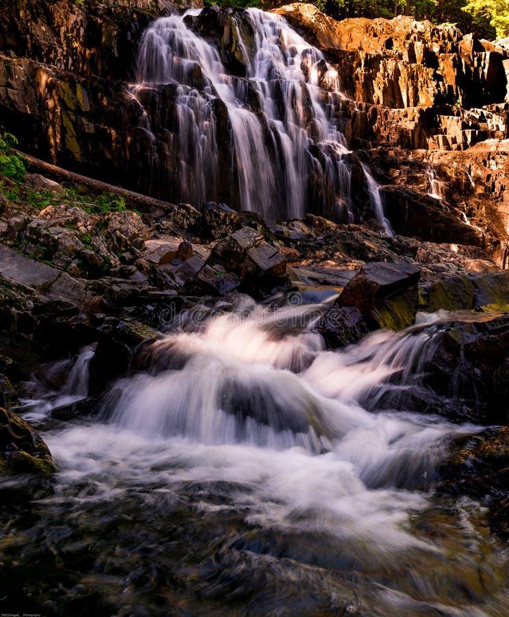 Houston Brook Falls Bingham, Maine royalty free stock photography