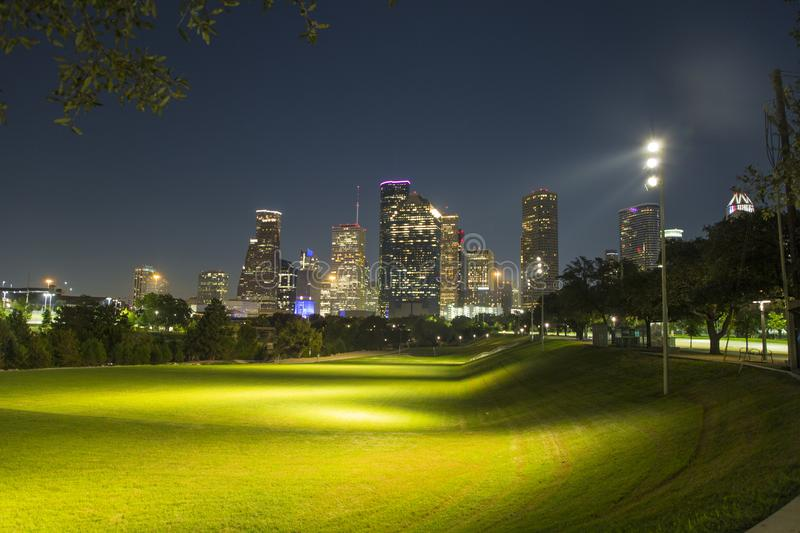 Houston from buffalo bayou park. Houston is a city of different scenarios, its buildings on the horizon in an excellent way. Other excellent places to visit are royalty free stock photography