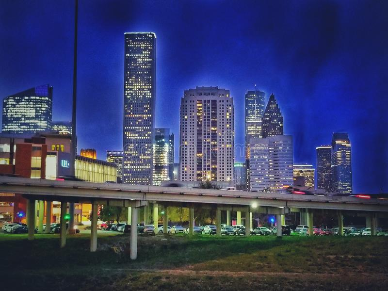 Houston céntrica imagen de archivo libre de regalías