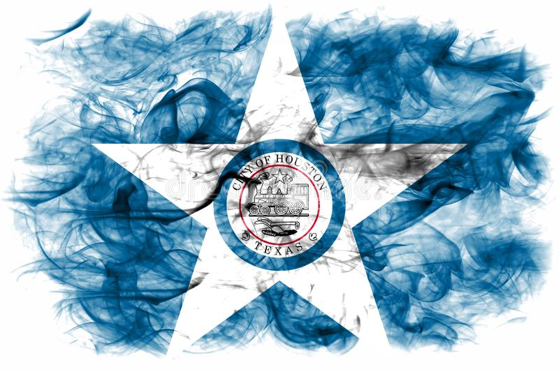 Houston city smoke flag, Texas State, United States Of America vector illustration